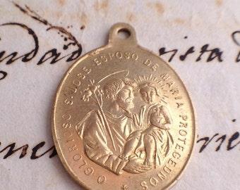 Saint Joseph Protector of the Church -Brass Medal- Spain