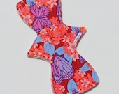 "Bamboo Velour Topped. Reusable Modern Cloth Pad featuring a butterfly print  (32cm/12.5"")"