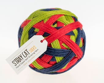 MILLY MOLLY MANDY - vibrant hand dyed self striping sock yarn