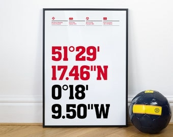 Brentford Football Stadium Coordinates Posters
