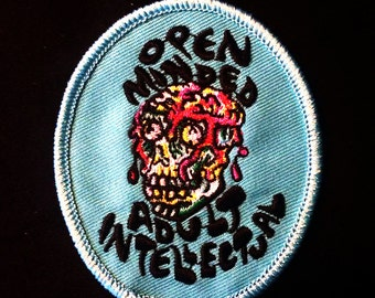 Open Minded Adult Intellectual patch