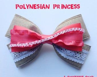 polynesian princess hair bow