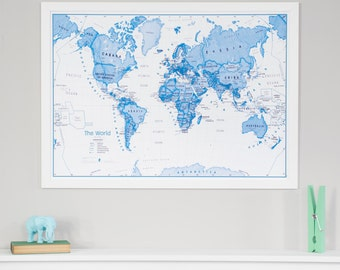 The online map store by mapsinternationalusa on etsy kids world map art gift travel map push pin map home gumiabroncs Image collections