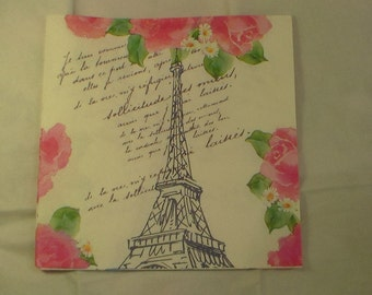 Decoupage Napkins,Eiffel Tower Decoupage Napkins, Decorative Napkins, Paper Napkins, Fabulous Napkins, Paris France