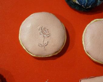 SALE! Dollhouse Miniature Kidskin Pillows-1 inch Round Pink, Set of Three