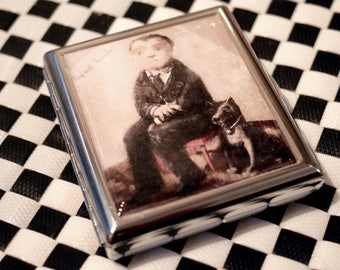 DOG WITH his MASTER cigarette case