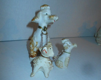 Mid Century Spaghetti Poodle and Babies