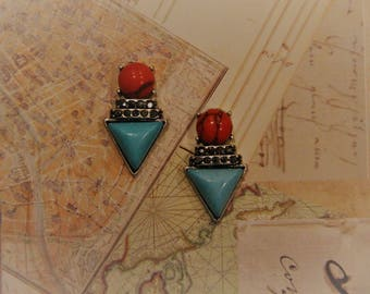 Funky and Multi-shaped Stud Earrings!