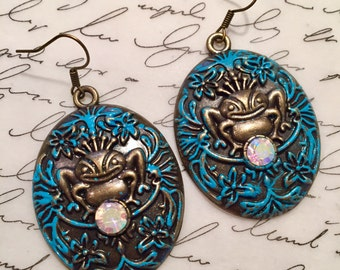 Bronze prince charming earrings.