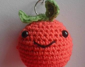 crochet orange keyring