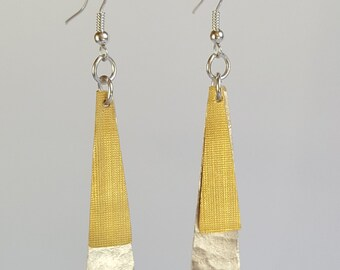 Fine golden and silver earrings