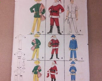 Butterick 3352 Children's Costume Doctor Santa Asian Mexican Vintage Sewing Pattern 1950s 50s Size 6 8
