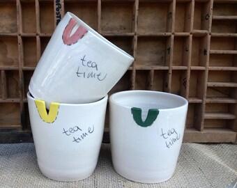 3 original Tea pots / tea time / 3 tazze per il tè / regalo per lei / regalo per la casa