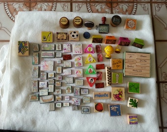Huge lot of rubber stamps for the crafter 80 pieces all different