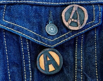 Anarchy Leather Pins