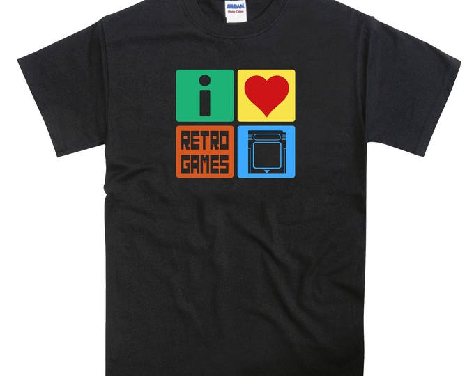 I Love Retro Games Nintendo Gameboy Tshirt