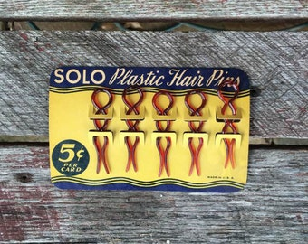 Vintage Solo Celluloid Hair Pins