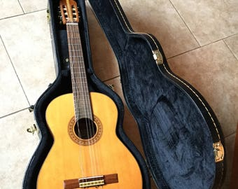 Beautiful Vintage 1960's Ibanez Model 361 Classical Acoustic Guitar and Hard Shell Case