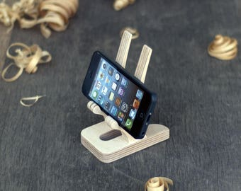 Docking station, iphone stand, Wooden phone stand, charging dock, iphone dock, husband gift, grandfather gift, boyfriend gift, mother gift