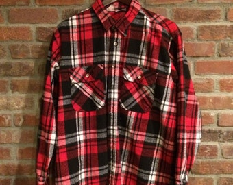 Vintage Five Brother Flannel Shirt Made in USA XL