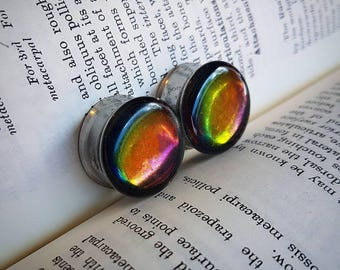 Colour changing chameleon plugs, for pair!