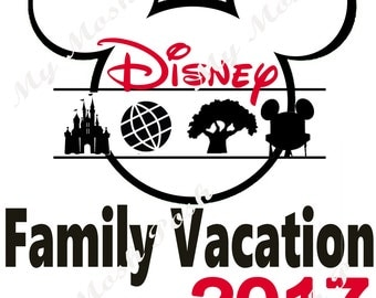Disney Family vacation Iron on Transfers for Tshirts Digital file