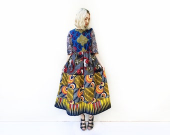 African Maxi Dress, One of a Kind Dress, Unique Ankara Dress, African Dress, Long Dress, African Clothing, Unique Dress, Unique Clothing / S