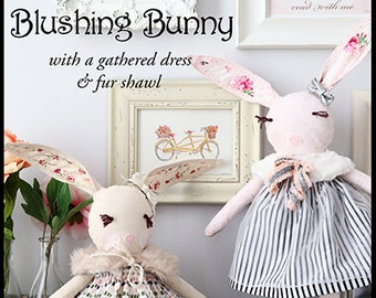 Pixie Faire Violette Field Threads Blushing Bunny Animal Doll Pattern  - PDF