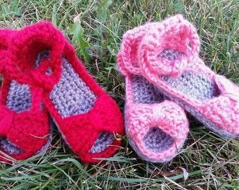 Baby Girl Crochet Sandals