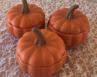 Set of 3  Pumpkin Mini Casserole dishes