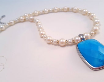 Turquoise Waters Necklace - Handmade