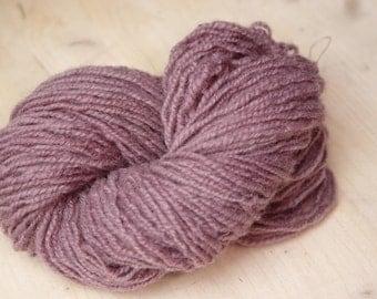 Organic wool yarn, sheep wool yarn, light purple wool yarn, Scandinavian Fabric