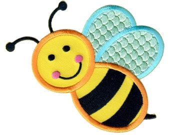 Bee Iron-On Patch Applique  - Kids / Baby