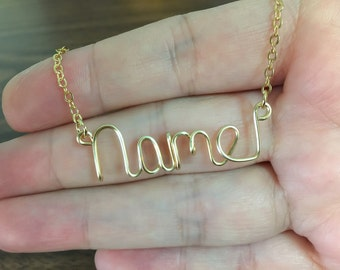 Name necklace, Personalized necklace, wire wrapped necklace, wire name necklace, any name, personalized, name, personalized necklace, gift