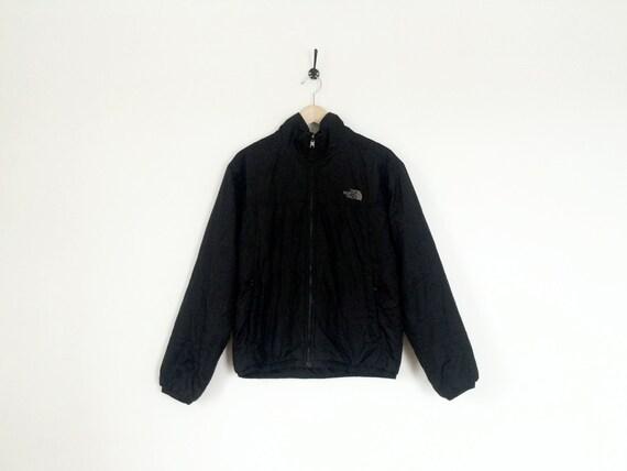 Northface black jacket windbreak outdoor quilted
