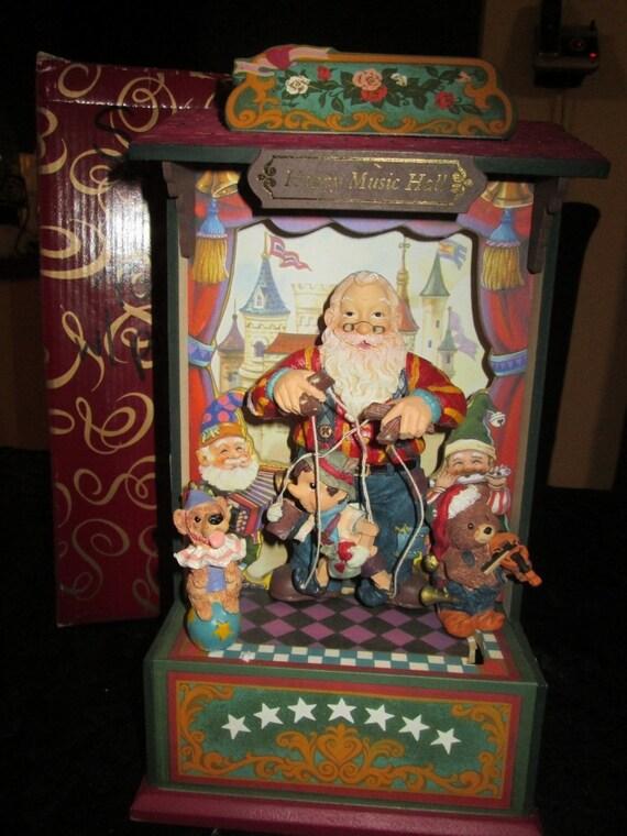Vintage San Francisco Music Co! Happy Music Hall! Santa and Pinocchio!