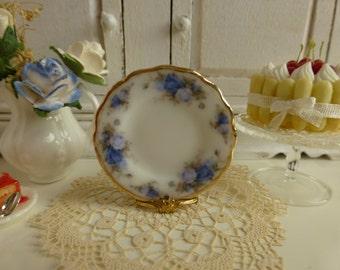 Moonlight Roses Dollhouse Miniature Plate