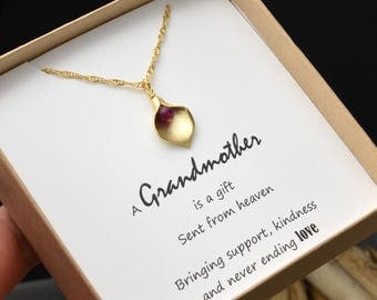 Grandmother gift necklace,Gifts for Mom, aunt gift ,Custom Mom Necklace,Birthstone Necklace,Personalized Birthstone Necklace,family Necklace