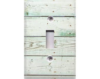 Country Rustic - Distressed Wood Light Switch Cover