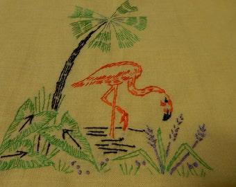 Flamingo Vintage Hand Towel