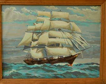 Paint by Number Sailing Ship