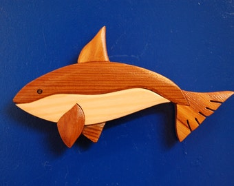 ORCA WHALE MAGNET ...  Original design, hand crafted from exotic wood
