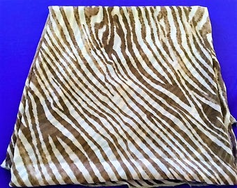 BROWN And BEIGE, STRIPED Muslin Serge-Ends, Fabric