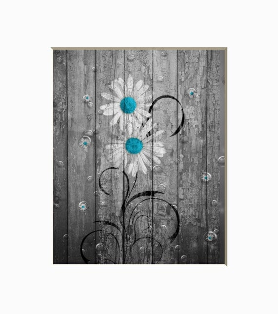 Rustic teal bathroom bedroom wall art photography rustic for Bathroom decor etsy