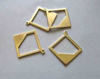 20pcs Raw Brass Charms , Pendants 24mm - F481