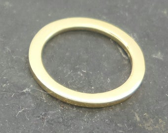 13mm ring gold plated sterling silver , gold on sterling flat ring , gold plated silver 13mm circle.