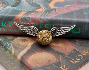 MADE TO ORDER! Harry Potter inspired golden snitch ornament