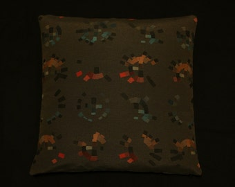 """Colorwheel by Hella Jongerius Carbon Maharam throw Pillow 17"""" X 17""""- feather insert included"""