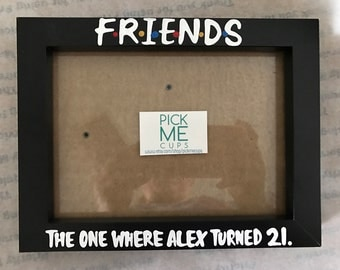 FoRoIoEoNoDoS 21st Birthday Turning 21 Gift Photo Frame For Friends Best Friend Or Sister Brother