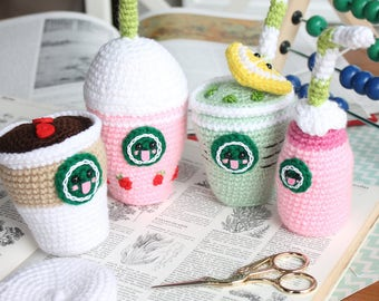 Starcutes Buddies Amigurumi Food Coffee Crochet Pattern Amigurumi Coffee+ BONUS pattern!